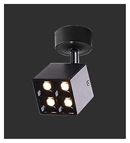 L1YAFYA Regulable CREE LED Mini downlights 8W AC85-265V Pantalla de joyería Pista de Techo Empliego Empotrado Lámpara Spot Blanco/Negro (Emitting Color : Black Ceiling, Wattage : 8W 4000K)