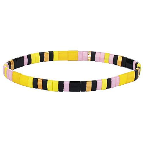C·QUAN CHI Stretch Armbänder Bunte Mode Stapelbar TILA Perlen Armband Armreif Handgemachte Frauen Wickel Armbänder für Geburtstagsgeschenke