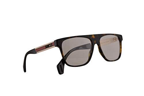 Gucci GGG0465O lentes 55-16-150 Havana marfil con lente transparente 003 GG 0465O