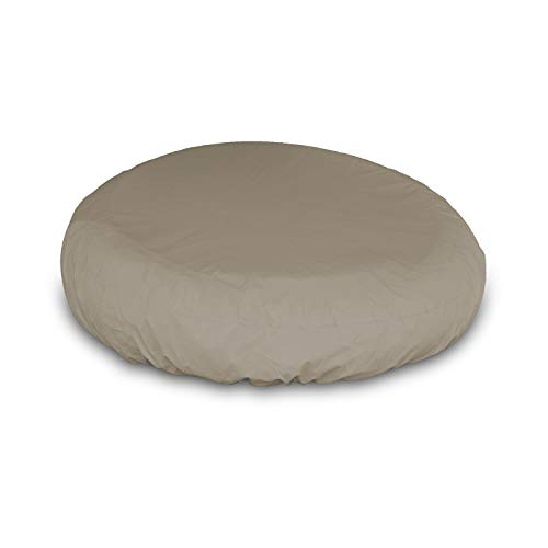 Outdoor Daybed Cover - Waterproof, Air Vents, 100% UV-Resistant, 12 Oz 1000 D PVC Coated, All Weather Resistant Fabric. Patio Furniture Covers with Drawstring for Snug fit (Beige)