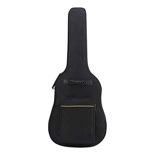 Funda de guitarra gruesa de nailon Oxford, funda para guitarra impermeable, con bolsillos externos para guitars, bolsa de guitarra ajustable, funda clásica acústica, bolsa bandolera para guitarristas