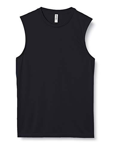 [グリマー] 袖無 3.5オンス インターロック ドライ ノースリーブ 00353-AIN ブラック L (日本サイズL相当)