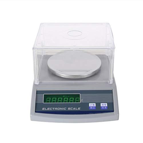 ZNND Digitale elektronische weegschaal, 0,01 G LCD laboratorium precisie analyse-weegschaal sieradenweegschaal industrie apotheek school