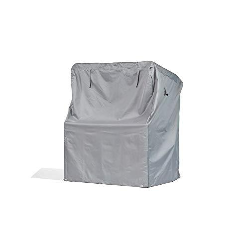 Premium Schutzhülle für Strandkorb aus Polyester Oxford 600D - lichtgrau - von 'mehr Garten' - Größe XXL (Breite: max. 165cm)