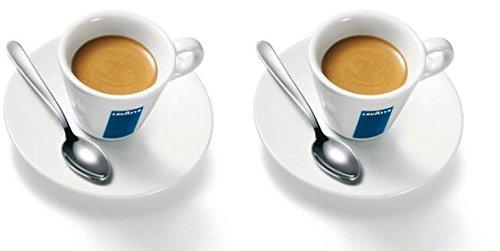 2 X Lavazza Espresso Tassen und Untertassen -Kapazität cc 75, height mm 58