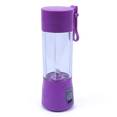 Lili USB exprimidor licuadora Botella portátil 2/4/6 Cuchillas Mezclador licuadora Taza Fruta/Comida/batido Personal/Cocina licuadora, Violeta, 6 Cuchillas