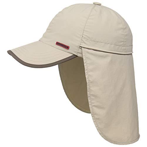 Stetson Sanibel Outdoor Baseballcap mit verstaubarem Nackenschutz Damen/Herren - Sommercap UV-Schutz 40+ - Sonnencap wasserabweisend - Cap mit Coolmax-Schweißband Frühjahr/Sommer beige L (58-59 cm)