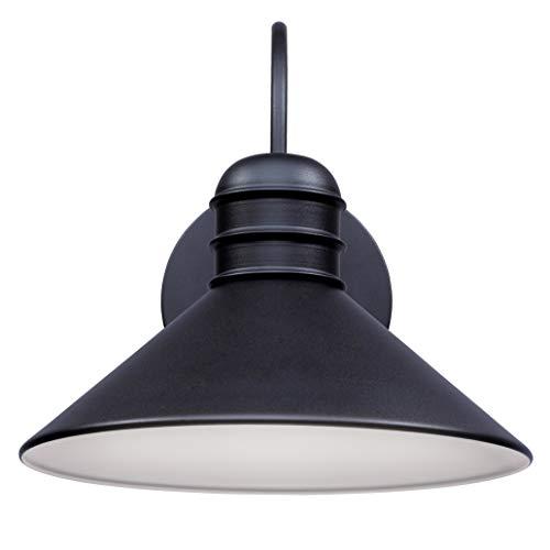 Westinghouse Lighting 6580940 – Apparecchiatura da parete da esterno LED dimmerabile Walter a una luce, finitura nera ruvida