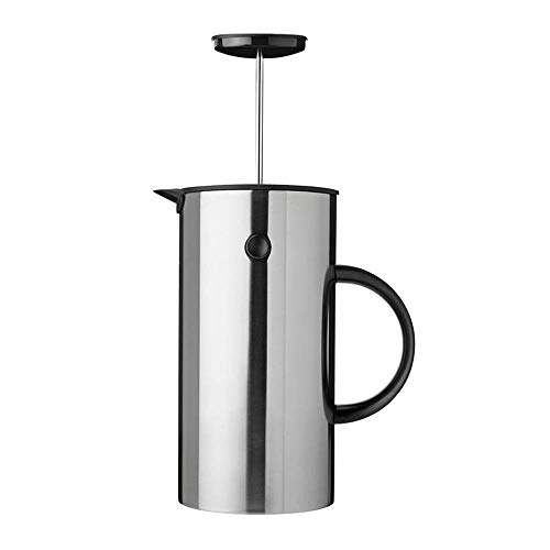 SongMyao Kaffeepressen Französisch Press Pot Coffee Pot Home Office Hand gebrühter Filter Filterpressekanne (Color : Silver, Size : 1000ml)
