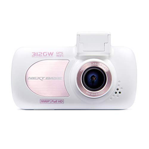 Nextbase 312GW - Full 1080p HD In-Car Dash Camera DVR - 140° Viewing Angle – WiFi and GPS -Rose/White