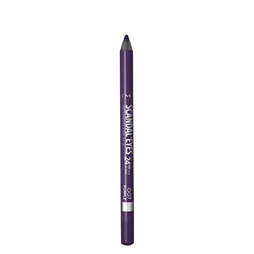 Rimmel London Matita Occhi Waterproof ScandalEyes - Kohl Kajal Nero - 007 Purple - 7,1 g