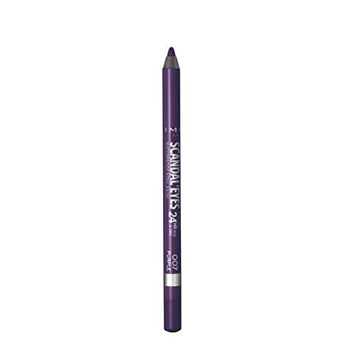 Rimmel – Kajalstift Scandaleyes Waterproof – intensive Farbe – weiche Textur – 007 Purple...