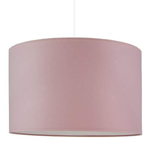 youngDECO Lampe für Baby- und Kinderzimmer, zartes schmutziges Rosa, großer Lampenschirm 38x24cm, Kinderzimmer-Deko für Mädchen & Junge, komplette Deckenlampe für Kinderzimmer, hergestellt in der EU