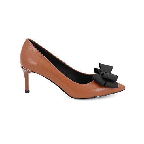 TXHLKD Med Round Heel Pumps Hochwertige Leder Spitz Casual Slip-On Schuhe Fashion Shallow New Pumps SO106 7.5 Olivgrün