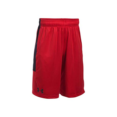 Under Armour Jungen UA Stunt Kurze Hose, Red, YLG