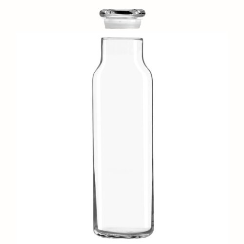 Libbey Glass 24 Oz. Hydration Decanter Carafe Bottle w/Lid - Straight Cylinder