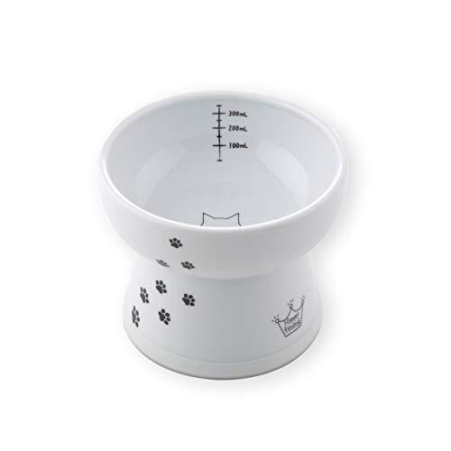 猫壱 ハッピーダイニング脚付ウォーターボウル ハイタイプ シリコン付き 猫柄