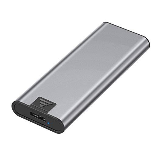 VDSOIUTYHFV Caja Disco Duro Estado sólido M.2 NGFF a USB3.0 Caja Externa Disco Duro móvil transmisión de Alta Velocidad aleación Aluminio M.2