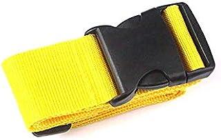 CamKpell - Valigia con cintura di rinforzo per trasporto Gold Yellow Taglia unica