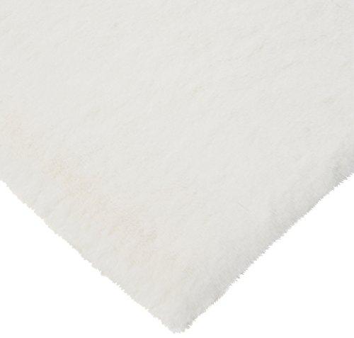 CRS Fur Fabrics Super Luxe Fausse Fourrure Tissu Matériau – en Peluche Super Doux Crème