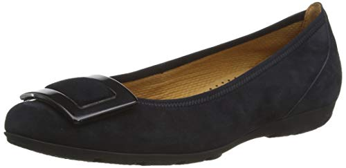 Gabor Shoes Damen Casual Geschlossene Ballerinas, Blau (Pazifik 16), 38 EU