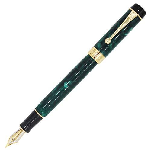 Gullor 100 Collection Acrylic Resin Fountain Pen Medium Nib with Gift Box - Green
