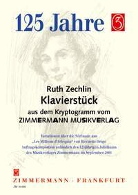 Zechlin, R., Klavierstück