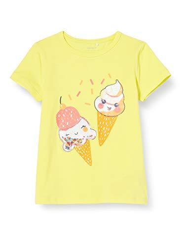 NAME IT Mädchen NMFJALONE SS TOP Box T-Shirt, Limelight, 92