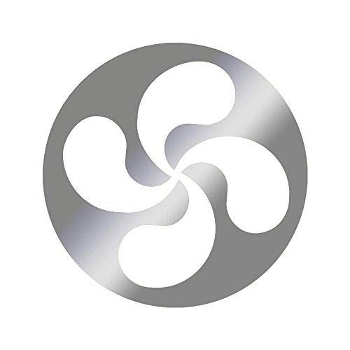 Sticker logo Croix basque Adhésif Autocollant - Plusieurs coloris disponibles Argenté