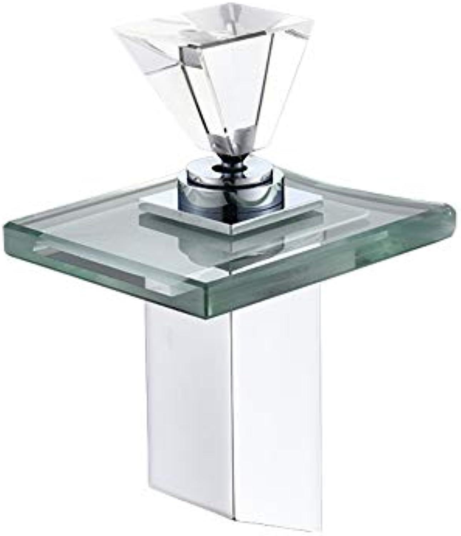 JONTON LED-Licht Wasserfall Wasserhahn Waschbecken Wasserhahn Mischbatterie Chrom gebürstet Wasserhhne Griffe Batteriedeck montiert