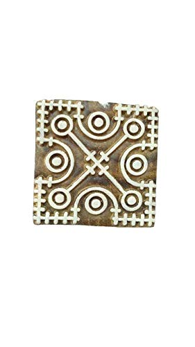 Stoffdruckstempel Crafty Square Floral Shape Holzblöcke - GRÖSSE: L X H (4,5 cm x 4,5 cm)