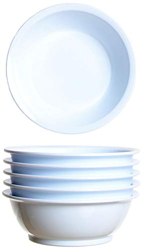 idea-station Gastro Kunststoff-Schalen 6 Stück, 18 cm, 600 ml, weiß, mehrweg, bruchsicher, rund