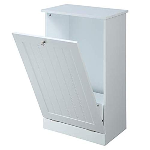 Northwood Calliger Tilt Out Free Standing Kitchen Trash or Recycling Cabinet (White)