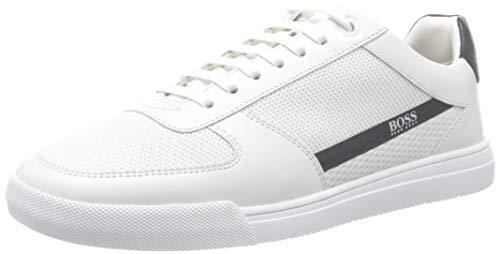 Hugo Boss Herren Cosmopool_tenn_mxme Sneaker, White100, 43 EU, 9 UK
