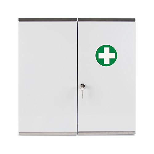 Reliance Medical 215 Locking Metal First Aid - Medicine Cabinet, Double Door, Metal
