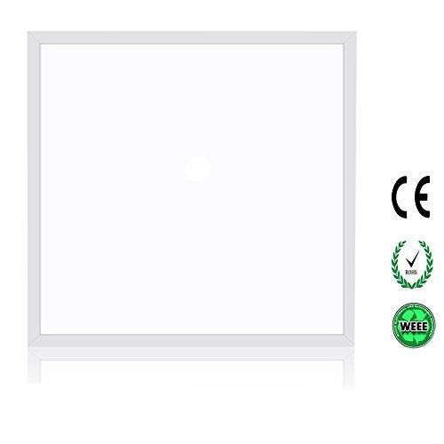 SOLLA LED di Soffitto Luce Ultrasottile Plafoniera Faretto Pannello LED Incasso Luce Illuminazione da Soffitto Moderno Lampada LED Quadrata, 36W, 2960 lumen, 4000K Bianco Naturale, Quadrato 60x60 cm