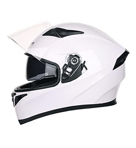 Qazx - Casco de crucero para moto de adulto, unisex, con diseño de doble cara