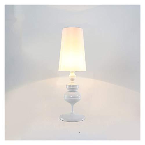 JSJJARF Lámpara de Mesa Oro Blanco Negro Mesa Moderna de luz LED Lámpara de cabecera de la Sala de Bodas artefacto de iluminación (Emitting Color : 1, Size : White)