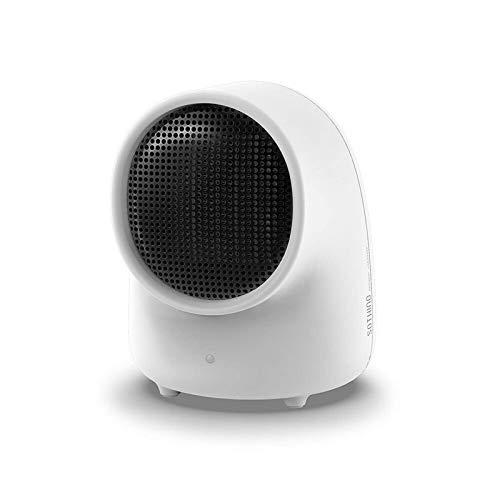 QFWM Mini Ventilador Portátil USBCalentador De Ventilador Calentador Electrónico Cálido De Escritorio Calentador Portátil Peque?o Y Lindo Ventilador Silencioso (Size:Small; Color:White)