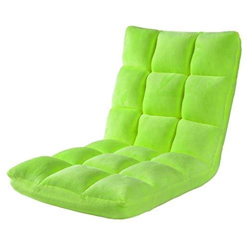 Dsrgwe Silla de Suelo Silla Plegable pequeña y Acolchada for el Piso con Respaldo Ajustable Cojín Grueso Asiento Lazy Lounge Sofa Silla de meditación for Juegos (Color : Fruit Green)