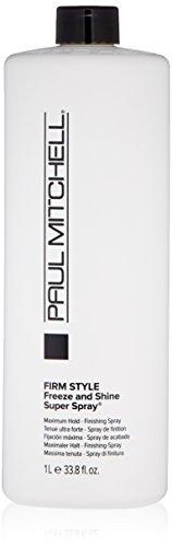Paul Mitchell Freeze and Shine Super Hairspray, Maximum Hold, Shiny Finish Hairspray, For Coarse Hair, 33.8 fl oz