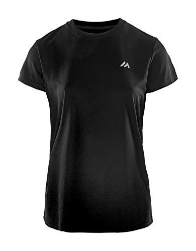 martes Lady Solan T-Shirt Fonctionnel pour Femme XL Noir/éléments réfléchissants