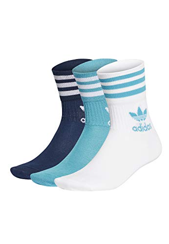 adidas Originals Socken MID CUT CRW SCK GD3577 Mehrfarbig Blau, Size:43-45