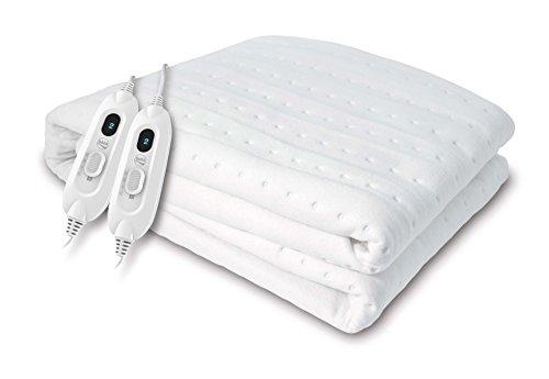 Daga Flexy-Heat CME - Calientacamas Eléctrico, 150 x 130cm, 2 Controladores de Temperatura, 3 Niveles de Temperatura, Acabado Textil Reversible, Autostop de Seguridad, Calentamiento Rápido