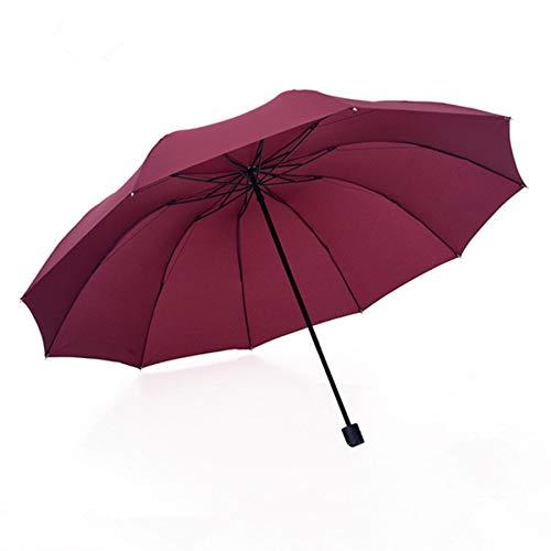 Compacte reisparaplu versterkt winddicht frame automatisch openen en sluiten stabiel draagbare, sneldrogende paraplu antislip handvat zwart dark red