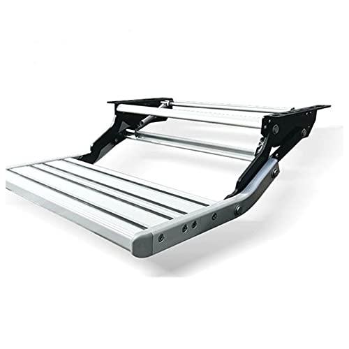 AJMINI RV Paso telescópico, aleación de Aluminio Antidkid Motorhome Pedal Pedal Step Telescopic Pasos Ladder Portátil Portátil Individual/Doble Paso Plegable Escalera