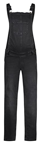 Esprit Maternity Damen Dungaree Denim Boyfriend Umstandsoverall, Schwarz (Black Dark Wash 940), 34