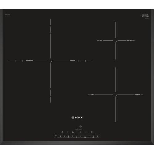 Bosch serie 6 - Placa inducción 60cm zona 32cm pid651fc1e biselada negro