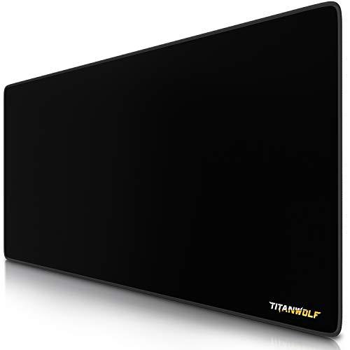 TITANWOLF - Alfombrilla de ratón XXL- 900 x 400mm – Extra-Grande - Mejora la precisión y la Velocidad - también para Roccat Razer Logitech – Antideslizante