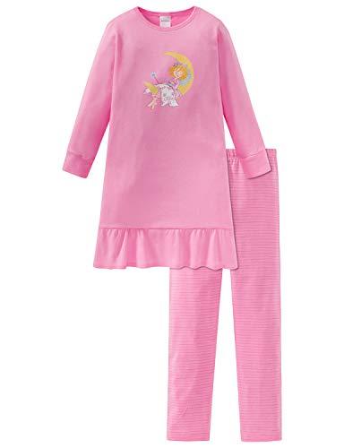 Schiesser Mädchen Prinzessin Lillifee Md Anzug lang Zweiteiliger Schlafanzug, Rot (Rosa 503), 92 (Herstellergröße: 092)